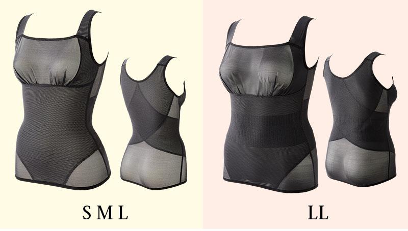 shape up cami シェイプ アップ キャミ 通気性が良く、ストレッチ性のよいパワーネットで腹部と背中をサポート。 身体にスッキリフィットし、胸元もカバーしてくれるのでインナーとして大活躍!!